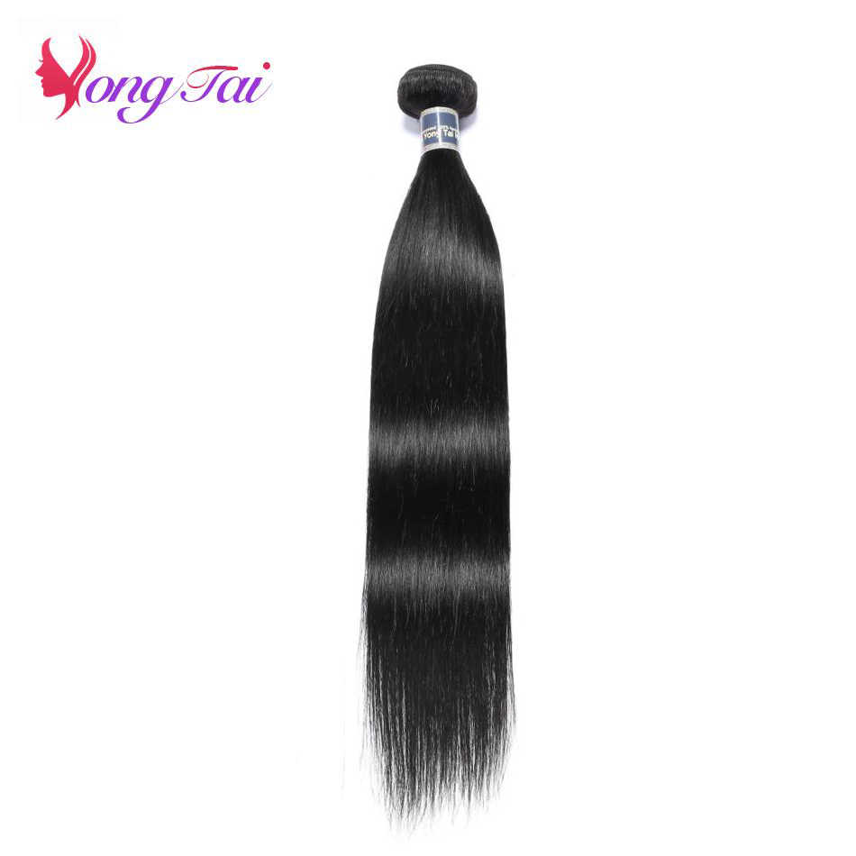 YuYongtai Hair Peruvian Straight hair Nature Black Weaving One Bundle 100% human hair No Smell Non Remy Extension 8-30 inches