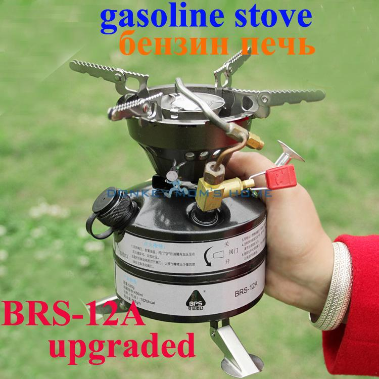 Upgraded BRS 12A Portable Field Gasoline Stove Camping Oil Stove Equipment Travel Kit Outdoor Stoves Burner