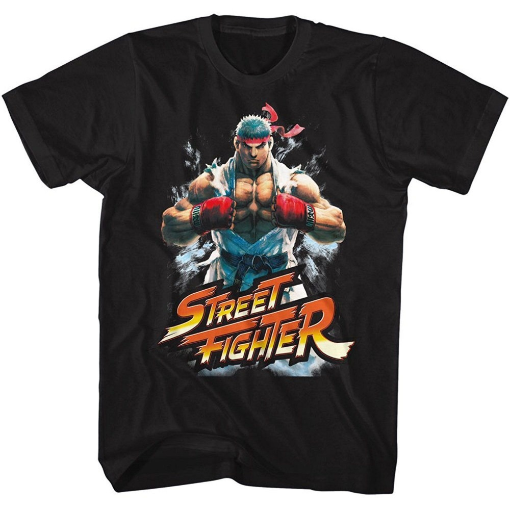 Authentic STREET FIGHTER Fist Bump Ryu Video Game T-Shirt S-3XL NEW Style Vintage Tees Short Sleeve Funny Top Tee