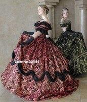 Платье платье винтажный, обычный викторианской гражданская война с прочёсом бархат тафта мяч день / платье