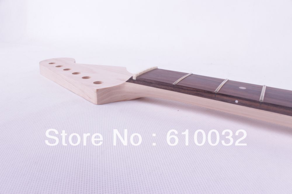 One electric guitar neck maple wood and Rosewood fingerboard 22 fret 266# black color 24 frets holt on one electric guitar neck mahogany wood and rosewood fingerboard 171