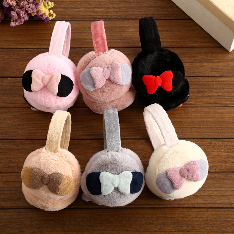 2017 han edition bowknot earmuffs winter warm rabbit fur earmuffs earmuffs ear over your warm manufacturer wholesale