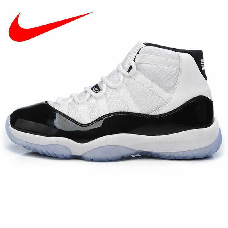 new style ab42a 5292d Nike AIR JORDAN 11 CONCORD GS Aj11 women s basketball shoes, shock  absorption non-slip