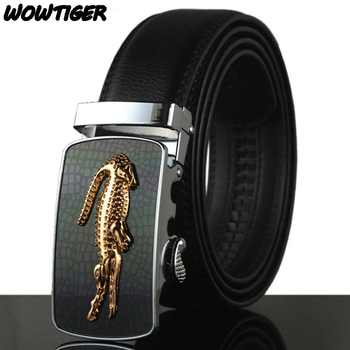 WOWTIGER Belt Man Hot Fashion Cowhide Leather men Designer Luxury Famous High quality Automatic buckle men Belts for men - DISCOUNT ITEM  48% OFF All Category