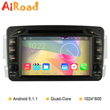 Quad Core 1024*600 Android 5.1.1 Car DVD GPS for Mercedes W203 W209 CLK W163 W168 W463 W639 Viano VITO Sprinter Radio Navigation