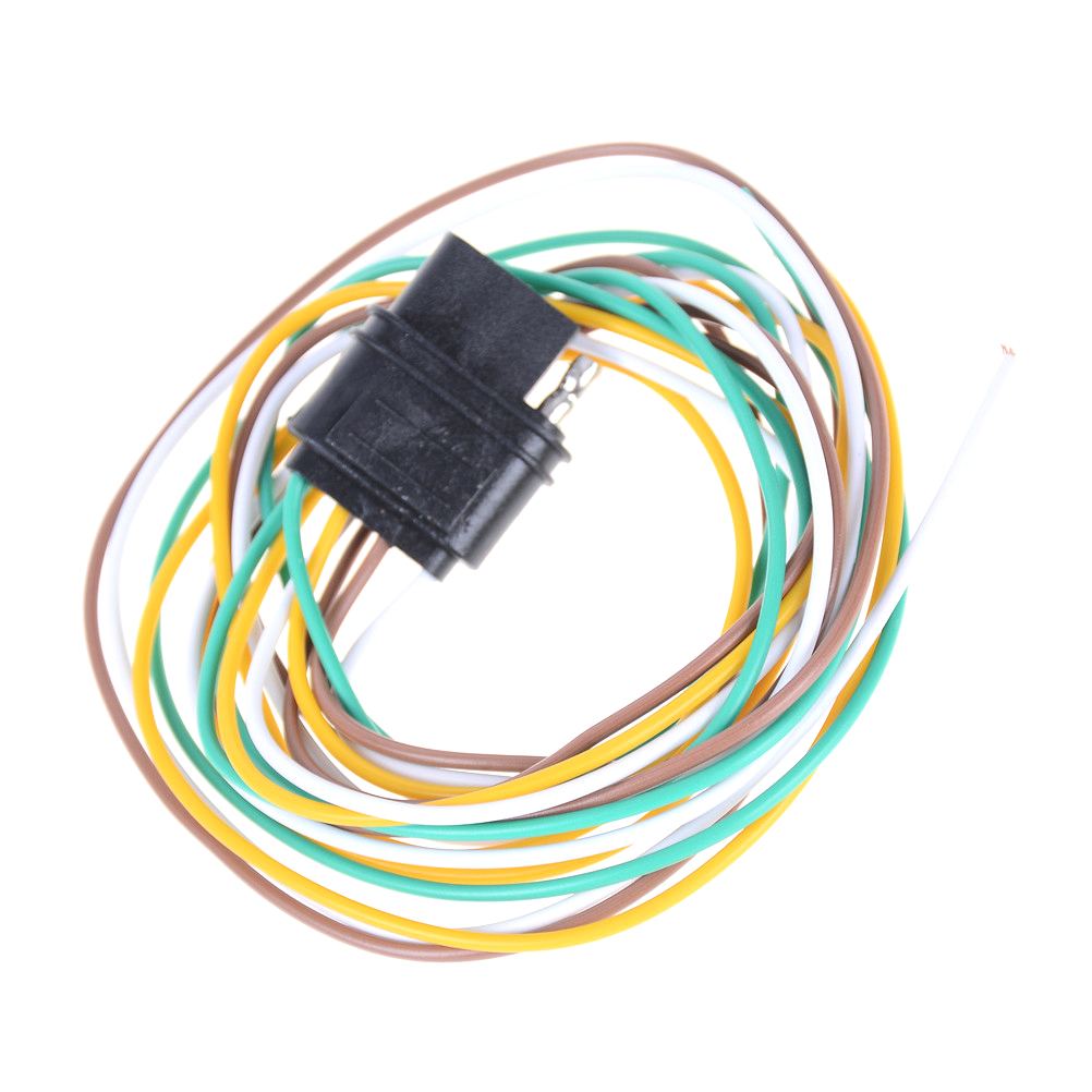 hight resolution of 1pc new sale trailer light wiring harness extension 4 pin plug 18 awg flat wire connector