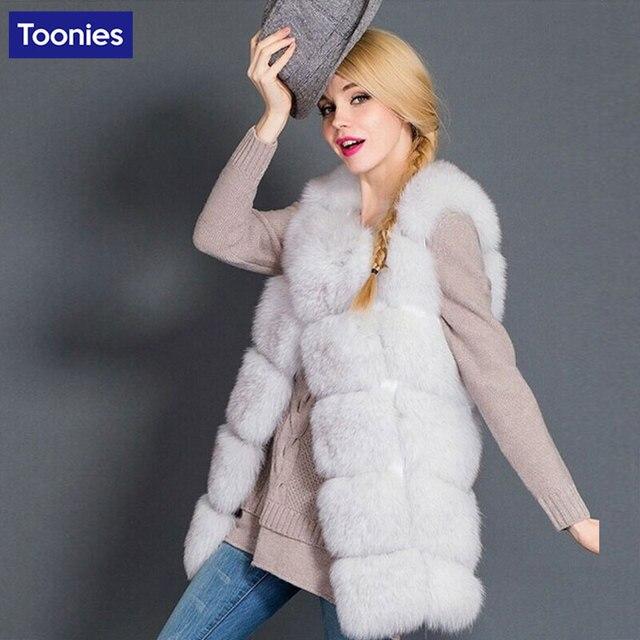 Women Faux Fur Vest High Imitation Mink Hair Fox Fur Coat Long Outwear New Fashion Luxury Medium Long Jackets Sleeveless Top