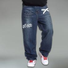 Новый европейский мужчины джинсы мода свободно печатаются джинсы хлопок джинсы Большой размер 30 — 46 для оптовая продажа и бесплатная доставка