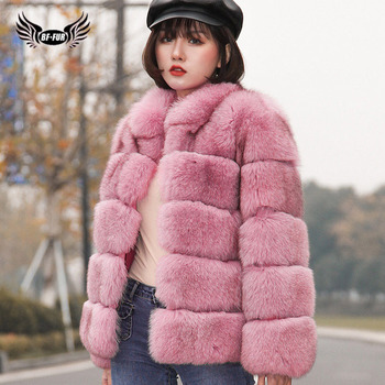 BFFUR Real Fox Fur Jacket Park With Natural Fur Full Pelt Mandarin Collar Women Winter Coat Thick Warm Snowsuit Blue Fox Solid topfur luxury real fur coat for women thick warm winter fur jacket full pelt natural fur coat silver fox real fur coat with hood