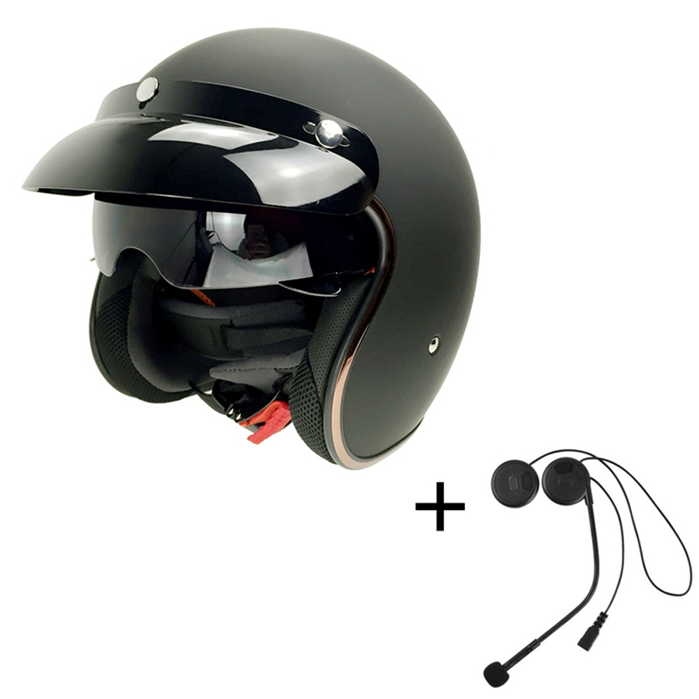 ФОТО Bluetooth Motorcycle Helmet Open Face Helmets With BT Headset  for Mp3/Phone Taking/GPRS