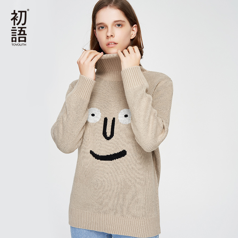 Toyouth Kawaii Long Sleeve Loose Knitted Pullovers 8830323010