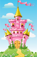 Thin Fabric Cloth Printed Photography Background Children S Castle Backdrop 5ft X 7ft D 738