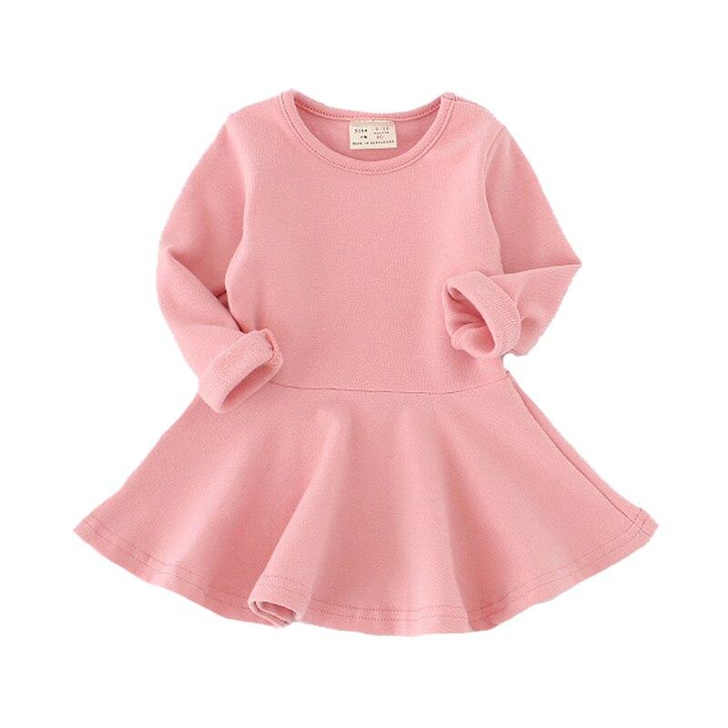 Vestido niñas princesa otoño los niños vestidos de bebé Niñas Ropa pétalo Sleevel de la ropa de los niños 1-4Y