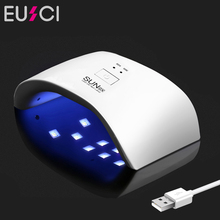 EUSCI 36W UV LED Nail lamp 12 LEDs Nail Dryer For All Gels With 30s / 60s Curing Light Lamp Double Power Digital Timer Sun9x недорого