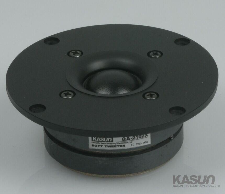 2 unids Kasun QA-2102X 4 pulgadas tela Tweeter de cúpula de controlador de altavoz de la unidad Dual imanes de 1600Hz-20 KHz 8ohm 60 W D104mm