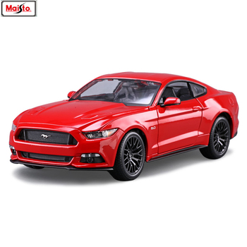 Maisto 1:18 Ford Mustang GT sports car Alloy Retro Car Model Classic Car Model Car Decoration Collection gift maisto 1 18 2017 ford gt yellow silver blue car diecast exquisite luxury car toy model collecting car model for men gift 31384