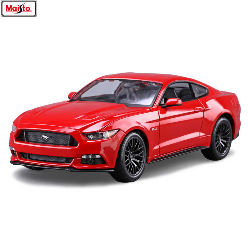 Maisto 1:18 Ford Mustang GT sports car Alloy Retro Car Model Classic Car Model Car Decoration Collection gift