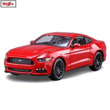 Maisto 1:18 Ford Mustang GT sports car manufacturer authorized simulation alloy car model crafts decoration collection toy tools 1 18 ford mustang gt car diecast car model for gifts collection hobby