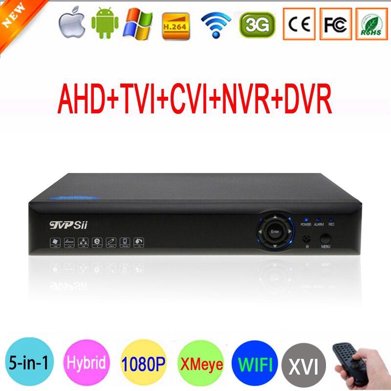 Bleu-ray Xmeye Hi3520D 1080 P Caméra de Surveillance 1080N 8 Canal 8CH 5 en 1 Hybride Coaxial TVI CVI IP NVR AHD DVR Livraison gratuite
