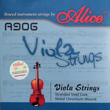 ALICE A906 Viola Strings Set with Stranded Steel Core and Nickel Chromium Wound