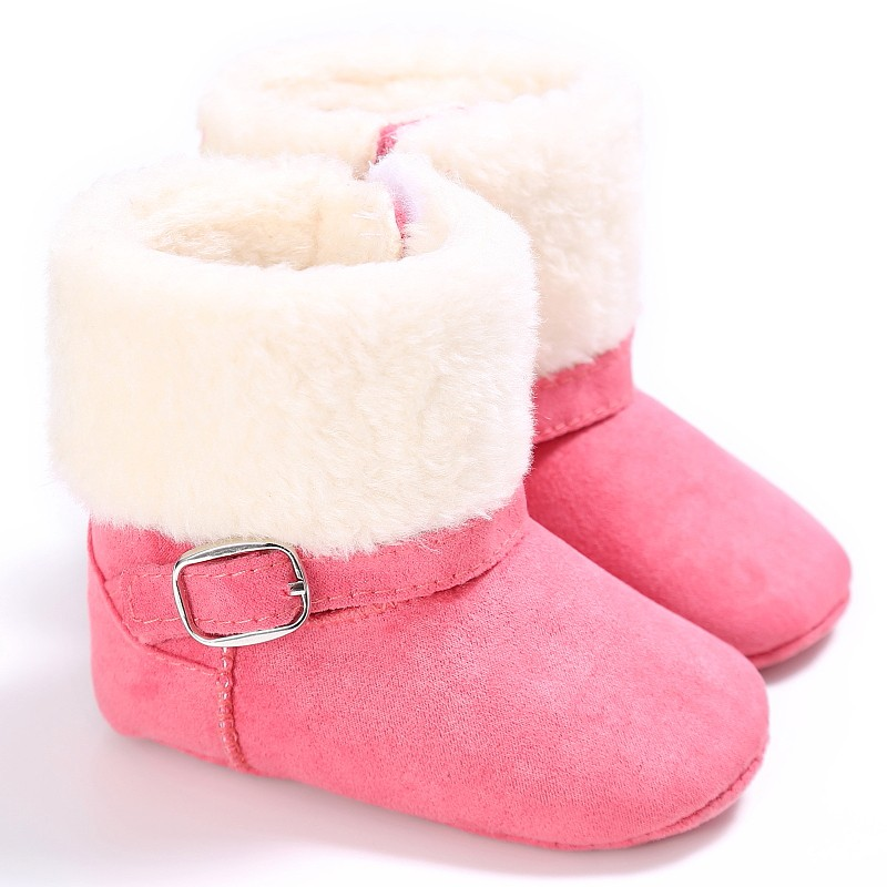 Baby Boots Girls Boys Winter Boots Anti-skid Lovely Warm Fleece Style Unisex Snow Kids Cack Shoes Brand New Simple