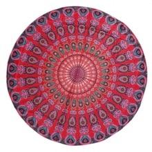 Ronda de flores playa toalla yoga mantas gasa multi-función también se utiliza como tapiz mantel cubierta de sofá del ocio retro