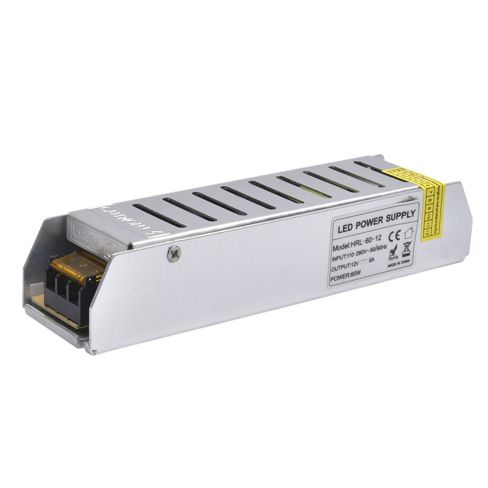 LED Power Supply 12V 5A 60W LED Driver Power Adapter Switching 110V 220V to 12V Lighting