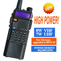 Baofeng uv-5r walkie talkie 8 w rádio uv-8hx transceptor dual display rádio comunicador baofeng uv5r walkie talkie portátil conjunto