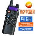 Baofeng uv-5r walkie talkie 8 w radio baofeng transceptor de doble pantalla uv-8hx comunicador de radio uv5r walkie talkie portátil conjunto