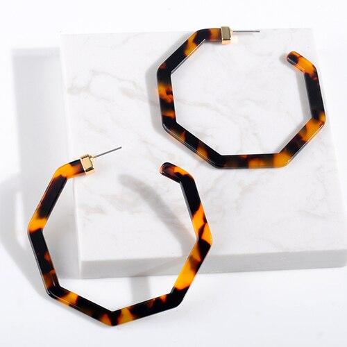 Женские леопардовые фигурные серьги ZA, висячие серьги черепаховой расцветки из акрилацетата, украшения для вечеринок - Окраска металла: 103882