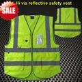 Multifuncional roupas de vestuário de trabalho de segurança de Alta visibilidade reflexiva colete de segurança amarelo fluorescente laranja colete oi vis