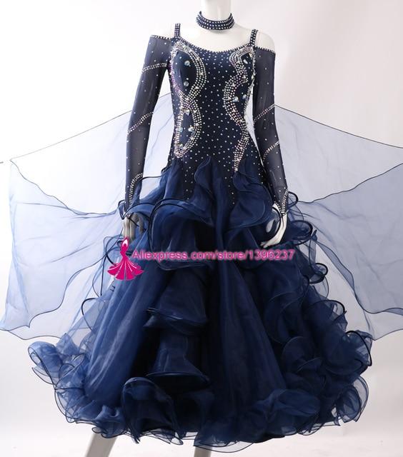 683dd5c9e9 Estándar Salón danza Vestidos señora de alta calidad por encargo competencia  Flamenco vals Salón baile vestido