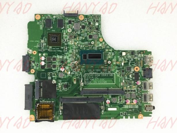 For DELL 5437 3437 Laptop motherboard YFVC4 i5 GT740 2GB DDR3 CN-0YFVC4 0YFVC4 100% tested
