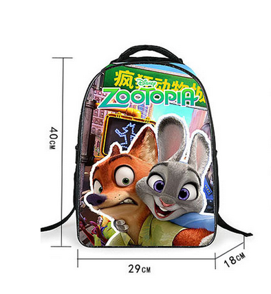 16 Inch Hot Zootopia Nick Judy Sloth School Bags Satchel Mochila 3D Cartoon  Orthopedic Children Backpack For Boys Girls-in School Bags from Luggage    Bags ... c6323a858d