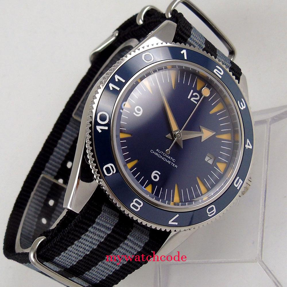 41mm corgeut blue Sandwich dial 21 jewels miyota Automatic mens wrist Watch