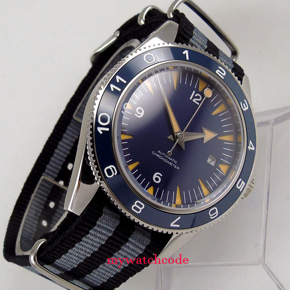 41mm corgeut blue Sandwich dial 21 jewels miyota Automatic mens wrist Watch 41mm corgeut black dial sapphire glass 21 jewels miyota automatic mens watch c14