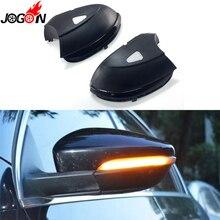 Для VW Passat B7 CC Scirocco Jetta MK6 EOS светодиодный боковое крыло зеркало заднего вида Индикатор мигалка динамическая лампа указатель поворота светильник