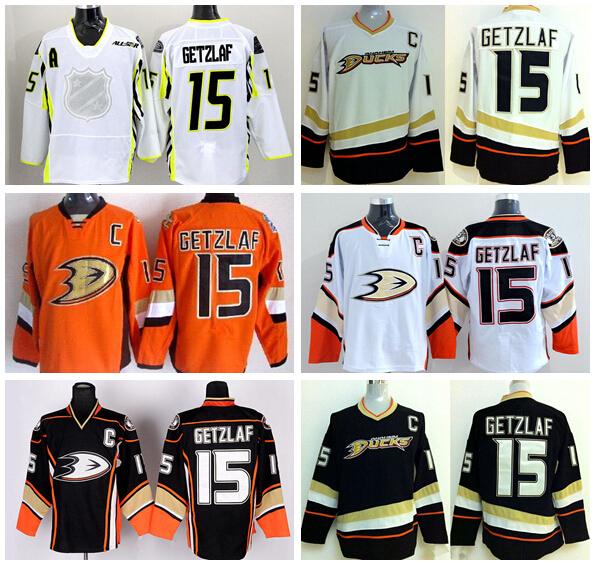 9662df6da ... Wholesale Cheap 15 Ryan Getzlaf Jersey Anaheim Ducks Ice Hockey Jerseys  Black Orange White Ryan Getzlaf Amazon.com ...
