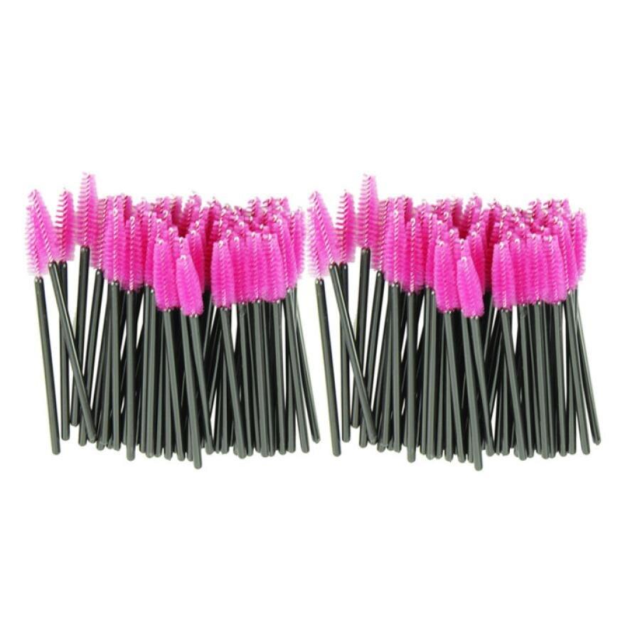 100 pcs/lot make-up pinsel Rosa kunstfaser One-Off Einweg Wimpern Pinsel Mascara Applikator Zauberstab Pinsel 170802 Drop Schiff
