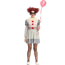 Adult Women Funny Circus Clown Cosplay Costume Fancy Party Dress Halloween Harley Quinn Outfit Z4284