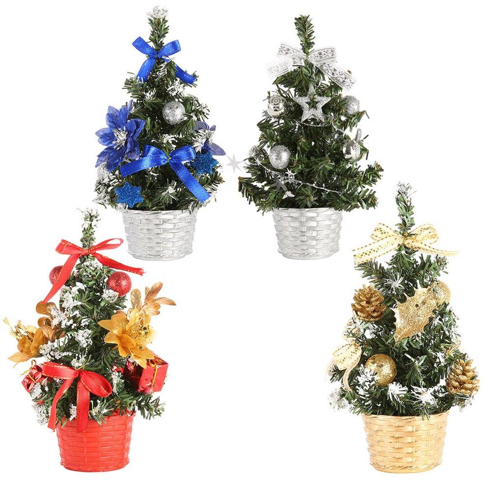 Height 20cm Mini Christmas Flower Tree Gift Fake Bonsai