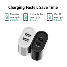 Ugreen 17W Mobile Phone Charger Universal Dual USB Wall Charger Smart Phone Charger for iPhone 7 6 Samsung Huawei Tablet Charger