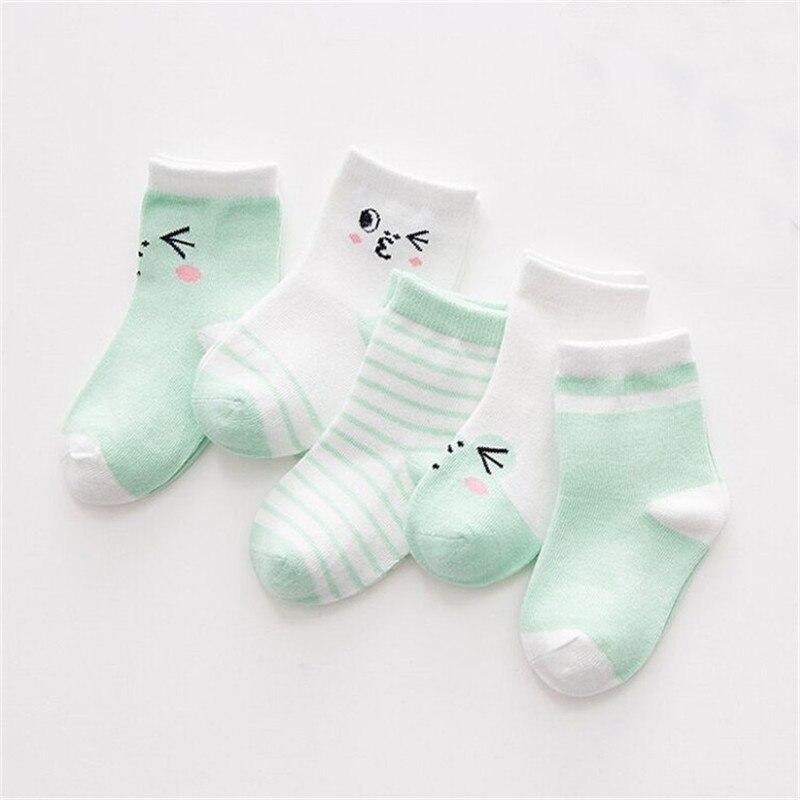 (10 Stuks/partij = 5 Paar) Katoenen Baby Sokken Cartoon Dier Meisje En Jongen Korte Sokken Baby Peuter Vloer Sok Baby Accessoires Makkelijk Te Gebruiken