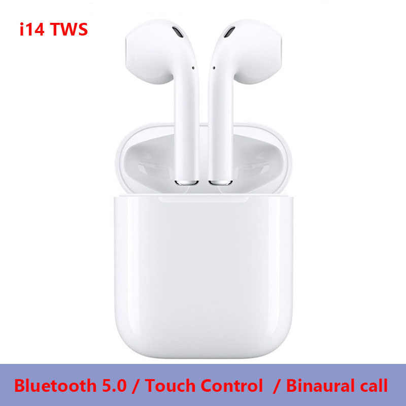 ddc23a85e8e i14 Mini TWS Touch Bluetooth 5.0 Earphone 3D Stereo Headset Wireless Earbuds  for Apple iphone Samsung