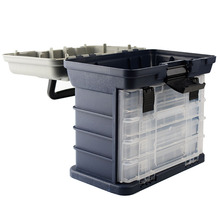 5 Слои большой ящик для рыболовных снастей Пластик ручка Рыболовная коробка инструменты для ловли карпа PP+ АБС-пластик рыболовные принадлежности