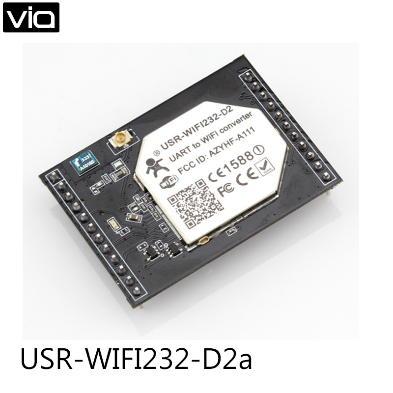 USR-WIFI232-D2a Direct Factory Brand New Serial UART to WiFi Module TTL To Ethernet and Wifi Converter Internal Antenna ttl turn rs485 module 485 to serial uart level mutual conversion hardware automatic flow control