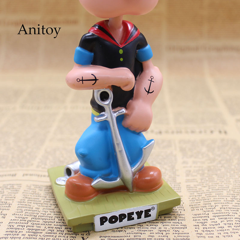 Image 4 - Popeye The Sailor Man Wacky Wobbler Bobble Head PVC Action Figure Collection Toy Doll 17CM with Retail BoxAction & Toy Figures   -