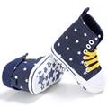 Новорожденный Впервые Уокер Детская Обувь Номера Для скольжения Случайные Холст Детские Мягкие Подошве Звезды Обувь Высокого Качества