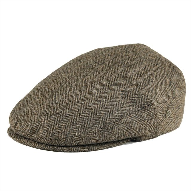 VOBOOM Wool Tweed Herringbone Flat Cap Newsboy Caps Men Women Beret Classic Cabbie  Driver Hat Golf Hunting Ivy Hats 200 9991761952a9