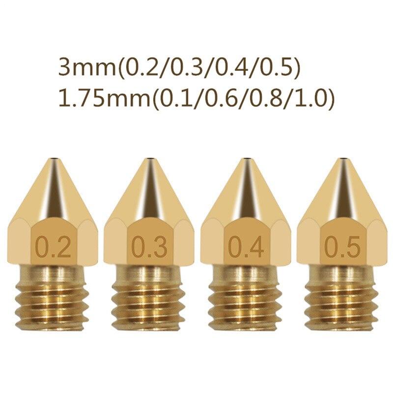 3d Printer Accessories Mk8 Pointed Brass Nozzle 3d Printer Parts Ender 3 Extruder Trianglelab 3d Printer Extruder